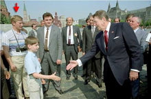 Putin with Reagan