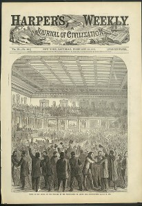 Scene in the House on Passage of the Proposition to Amend the Constitution, January 31, 1865.